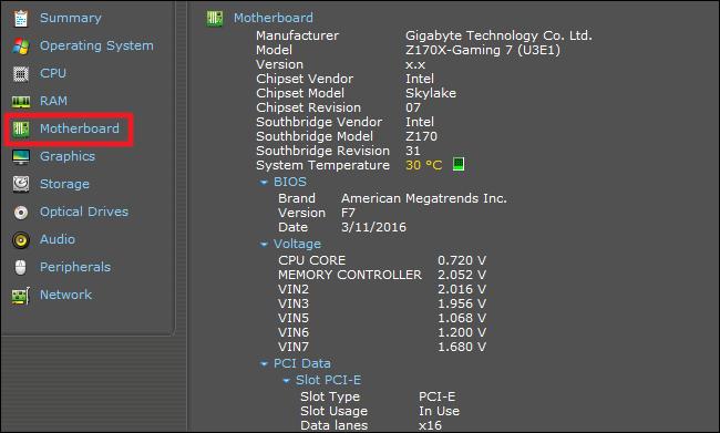 Motherboard-Modellnummer