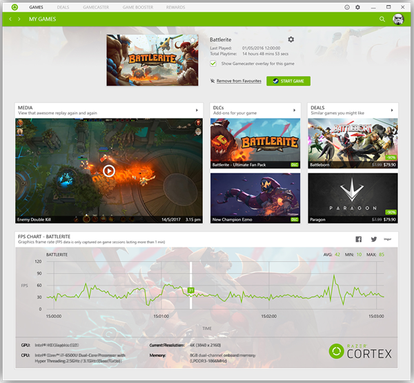 Razer Cortex Game Boost