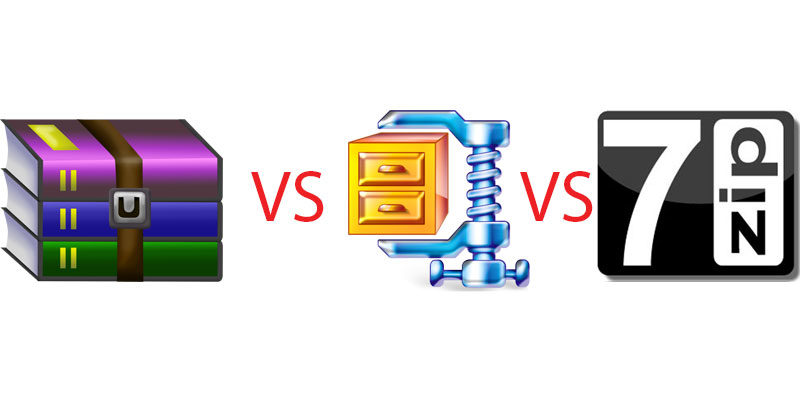 7-Zip vs. WinRAR vs. WinZIP