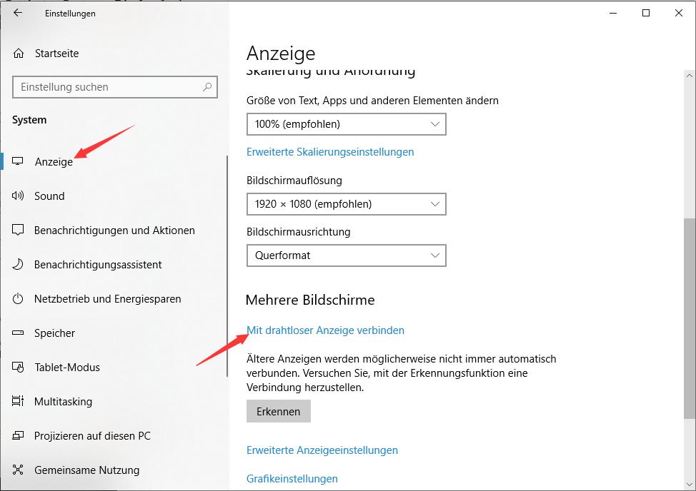 Windows 10 Laptop als zweiten Monitor nutzen