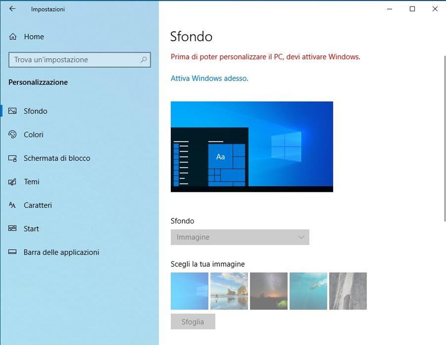 Windows 10 ohne Aktivierung
